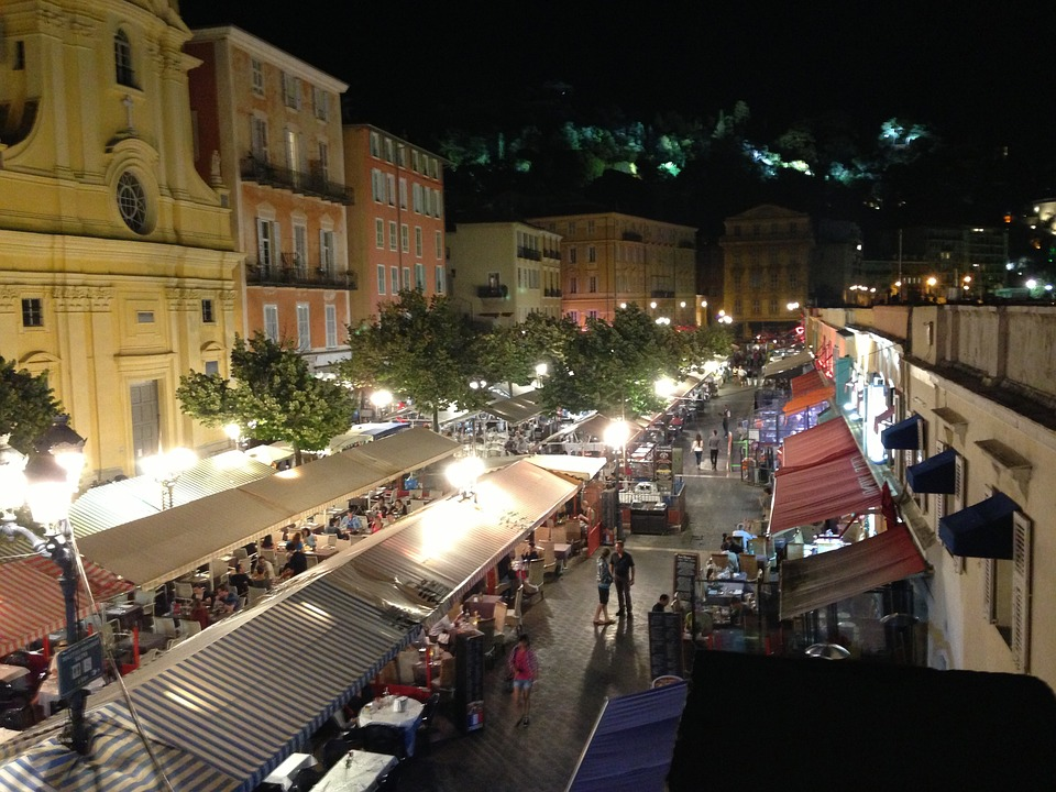 Night market in Nice, France. Thirty Six months